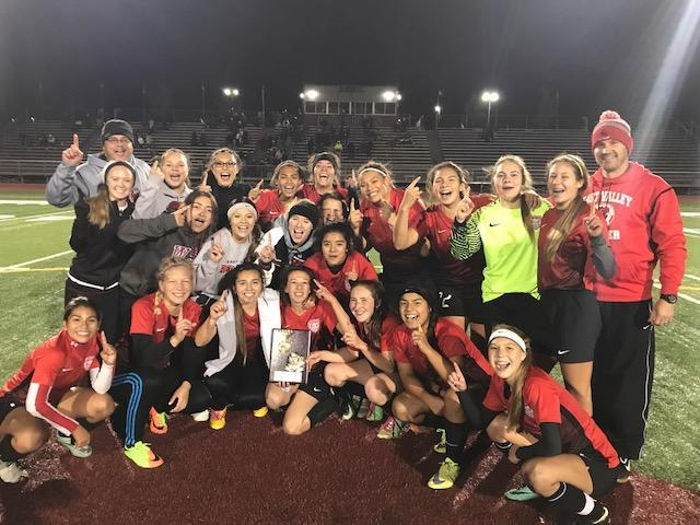 Girls Soccer wins District Title