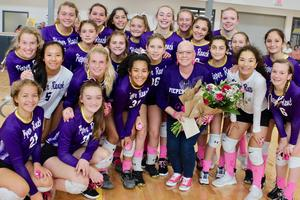 PRMS Volleyball Team with Poorman