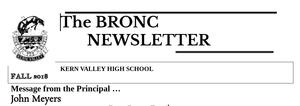 Bronc Newsletter