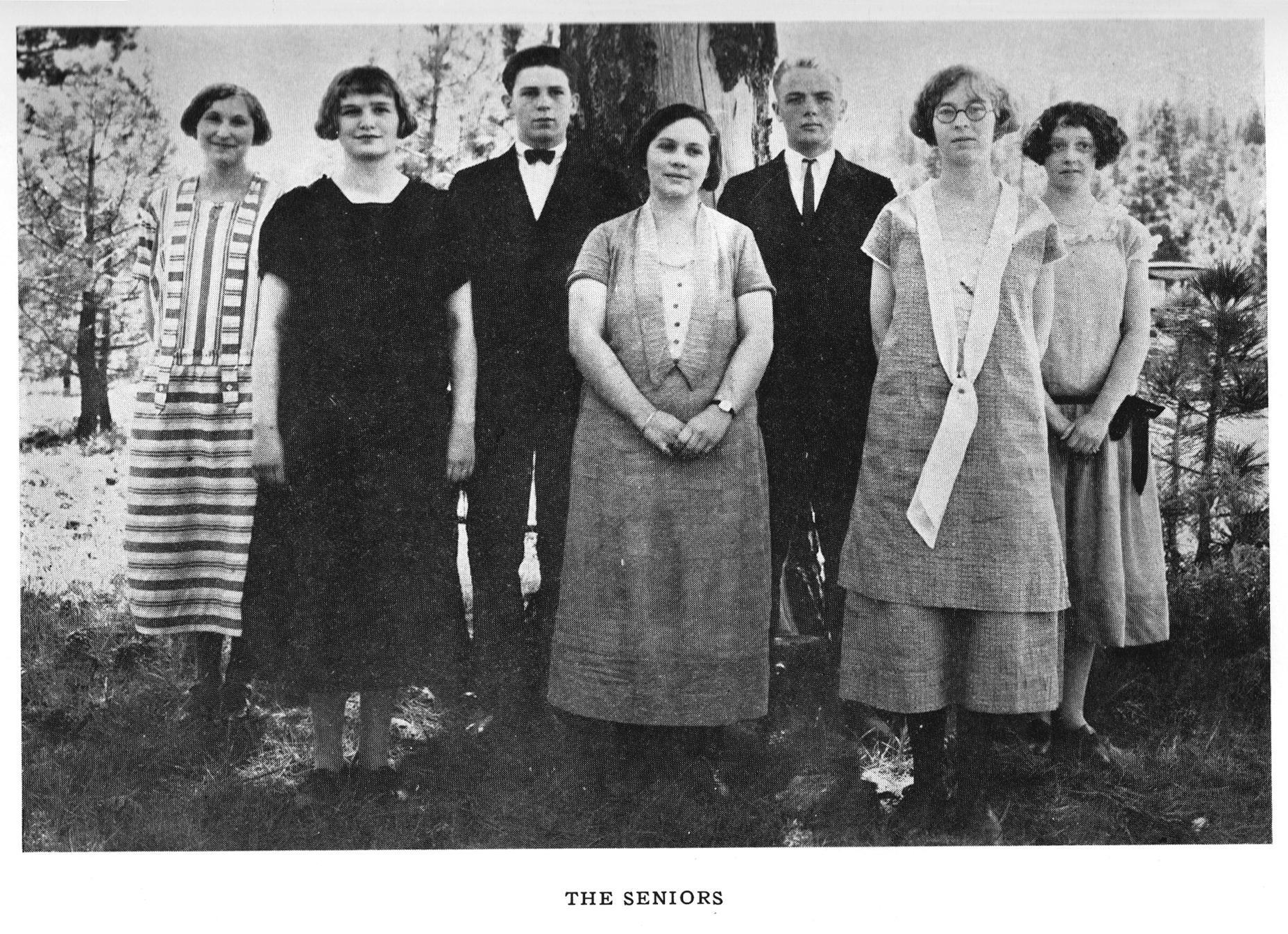 First Senior Class 1929