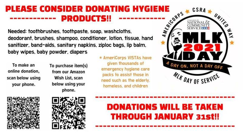 PLEASE CONSIDER DONATING HYGIENE  ------------  PRODUCTS!!   ------------