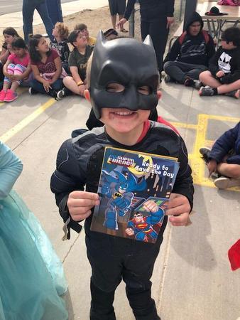 Student in Batman costume