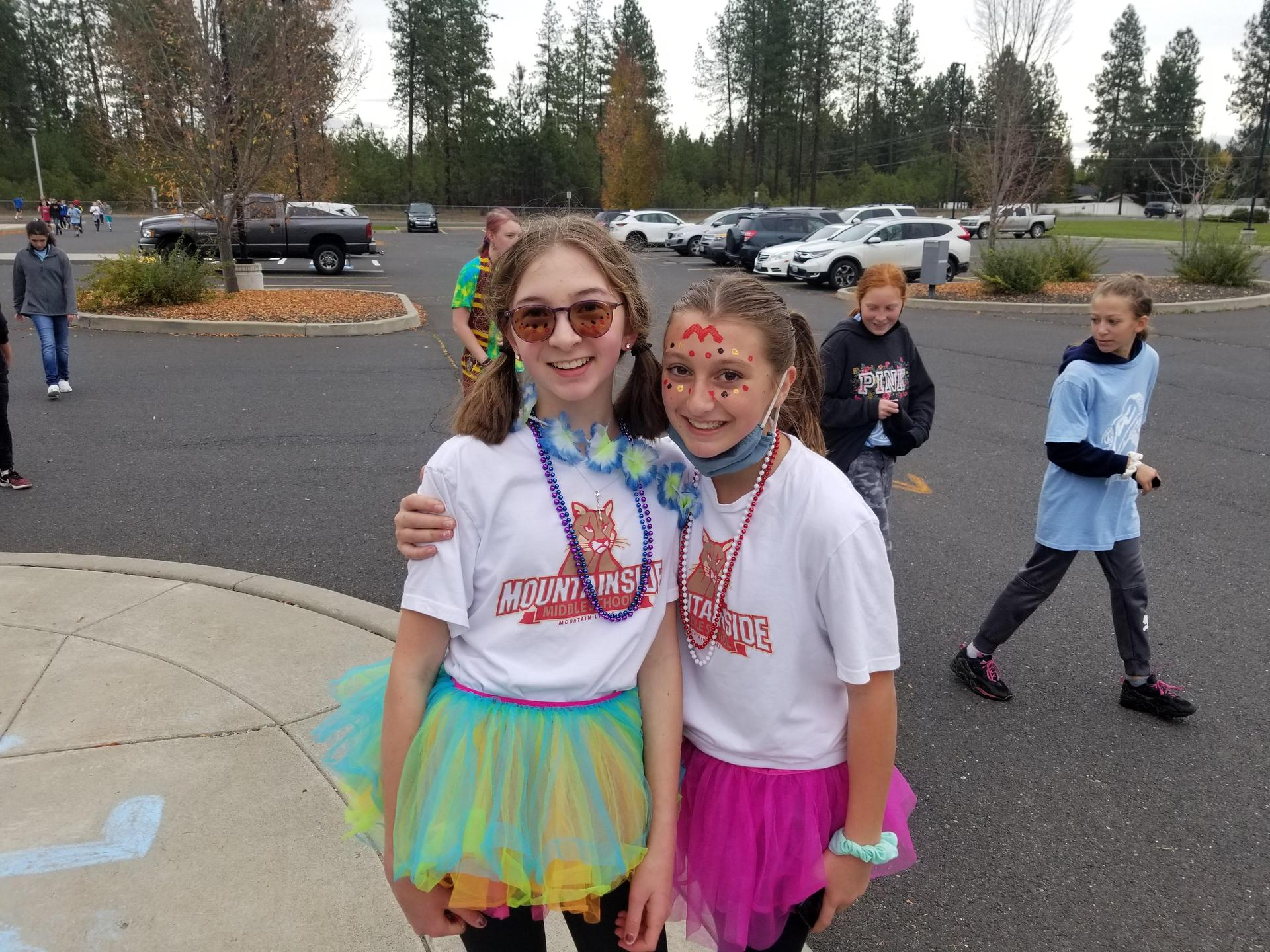 Mountainside students at Fund Run