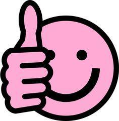 pink thumbs up smiling emoji
