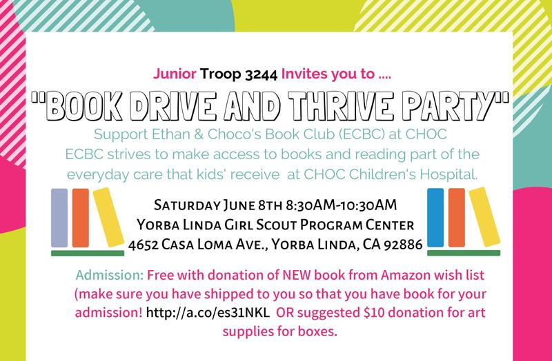 Book Drive & Thrive Party