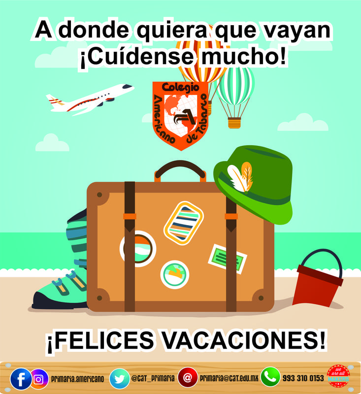 PRIMARIA: ¡Les deseamos unas muy felices vacaciones! Featured Photo