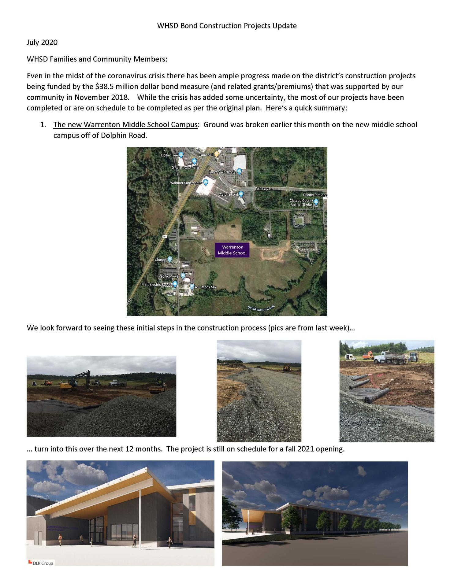 Update on Bond Projects Page 1