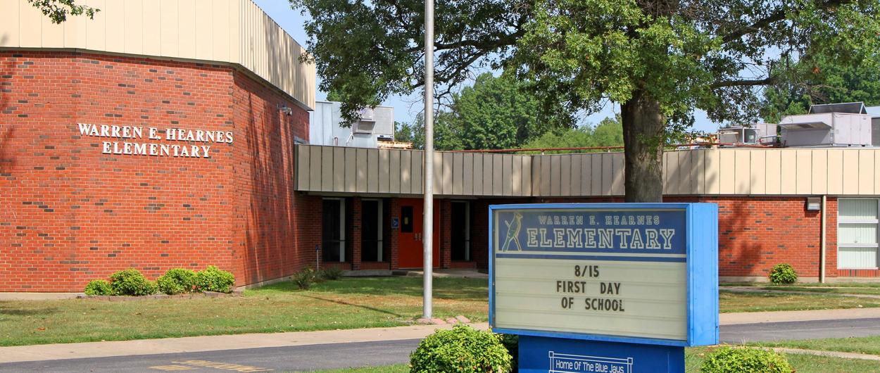 Hearnes Elementary front lawn