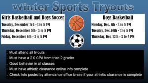 Winter Sports Tryout Info