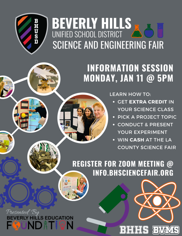 BHUSD Science Fair Information Session Flyer