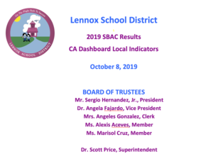 2019 sbac results presentation cover page