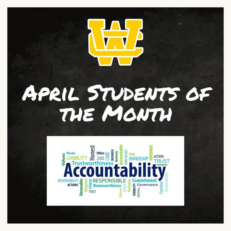 April Students of the Month - Character Trait - Accountability Thumbnail Image