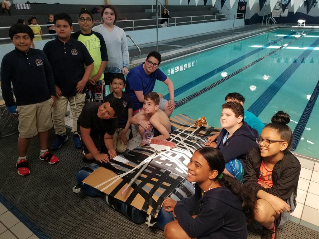 Washington Team with their winning raft