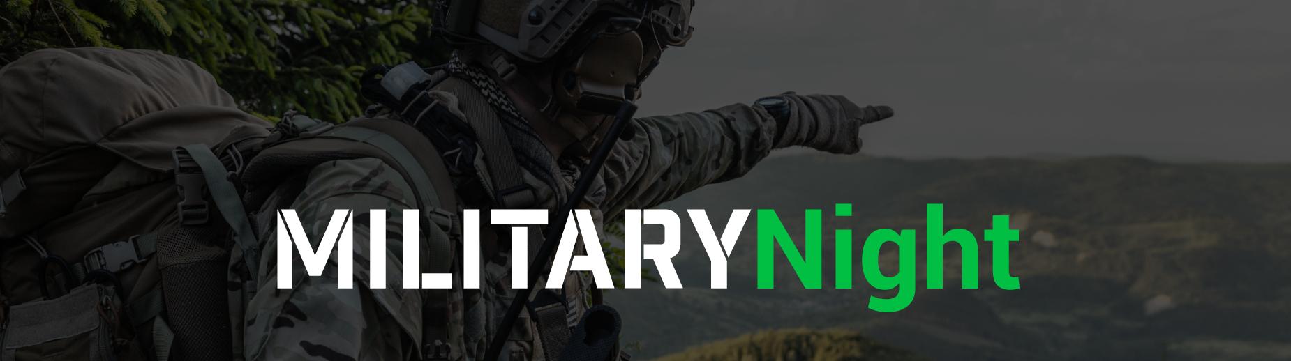 Military Night Banner