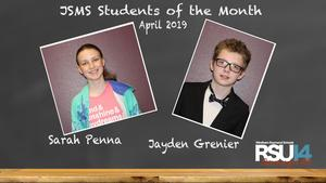 JSMS Students of the Month 4-19