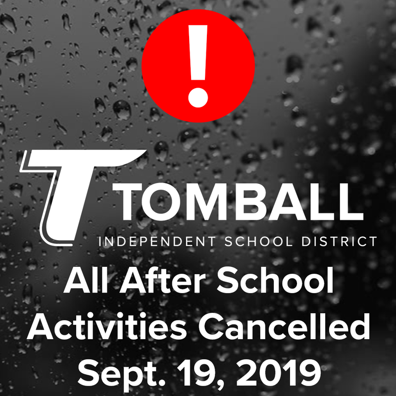 All After School Activities Cancelled Sept. 19, 2019