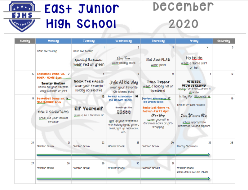 EJHS December Calendar Thumbnail Image
