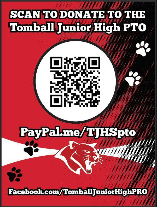 PTO Fundraiser flyer and QR code to donate