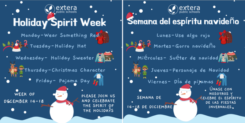 Holiday Spirit Week/ Semana del espíritu navideño Featured Photo