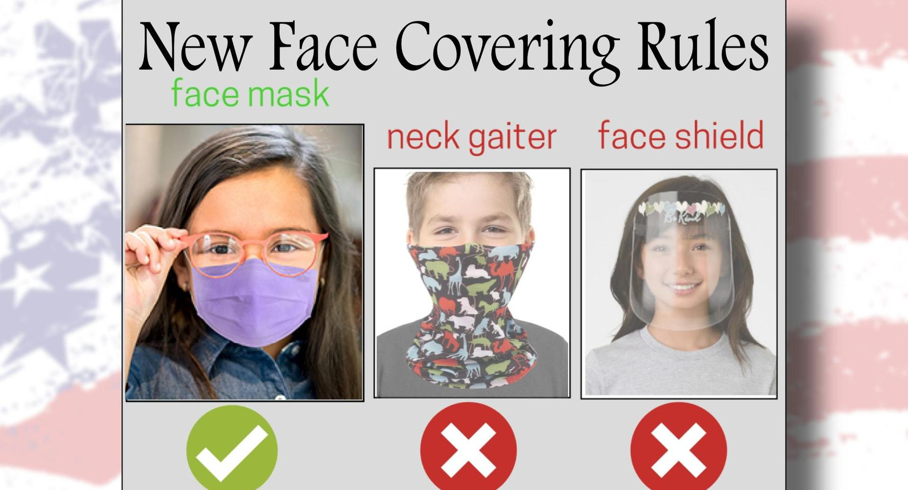 New Face Covering Rules