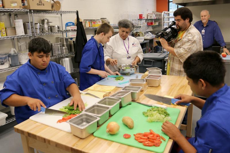 TSDK's Culinary Arts program students preparing food