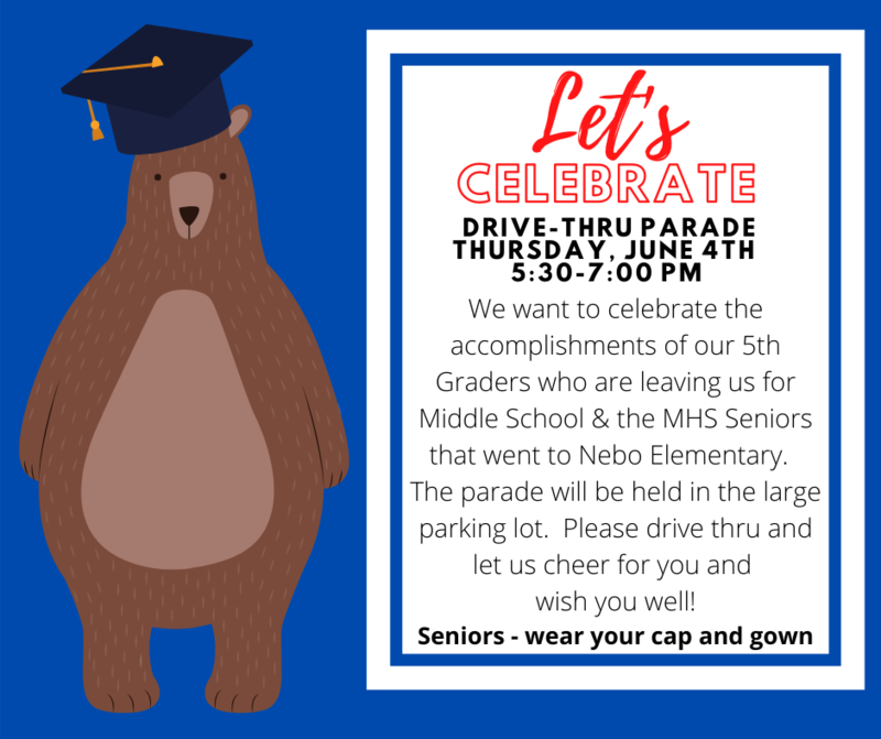 bear with cap and gown parade invite