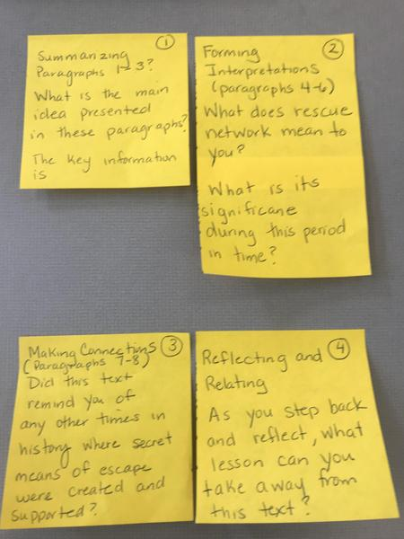 The Grand Mosque of Paris Cognitive Strategy Post Its.JPG