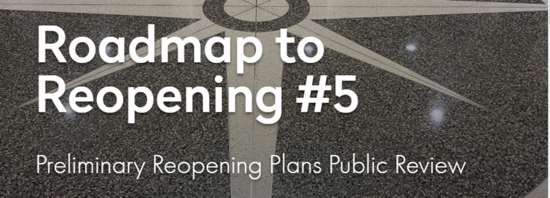 Road Map to Reopening Update #5 Thumbnail Image