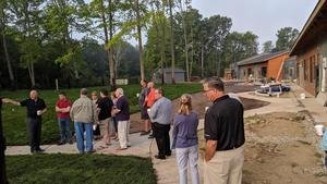 Otsego Rotary members get a tour from the superintenent