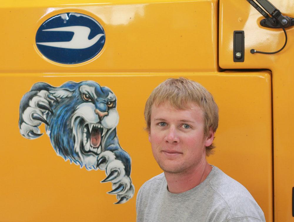 Image of bus driver Nick Harting