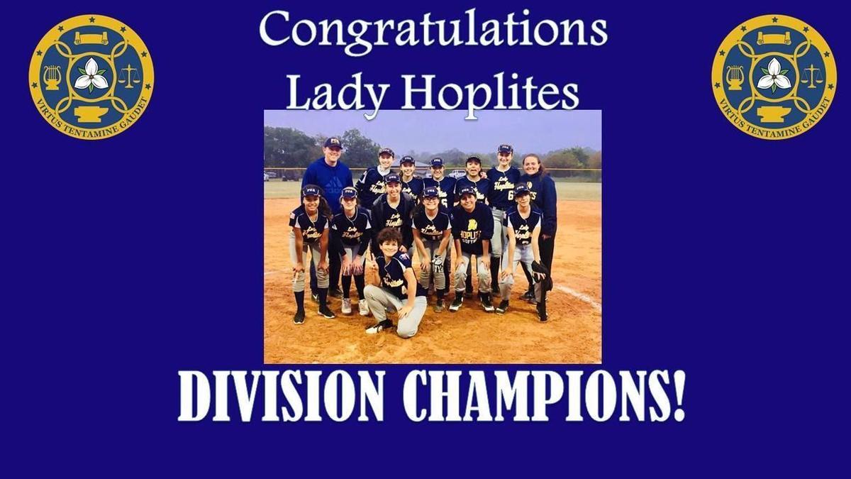 Division Champions Softball