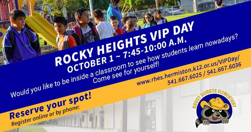 Flyer detailing information on VIP Day.