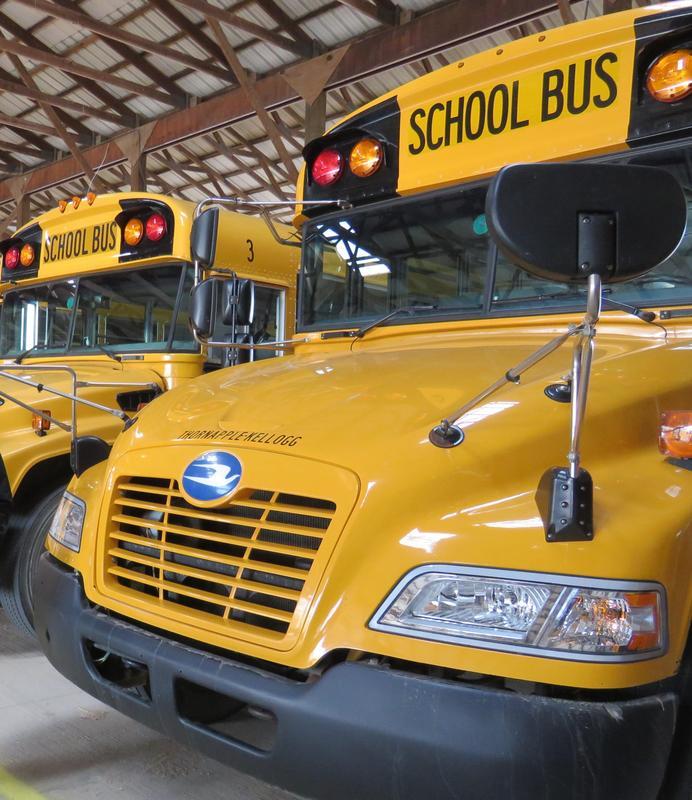 A Thornapple Kellogg School Bus.