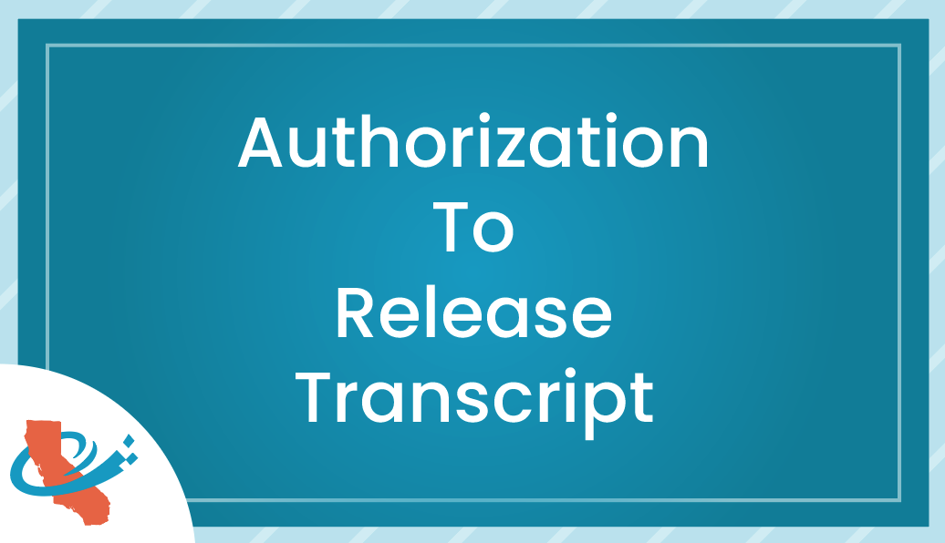 Authorization to Release Transcript