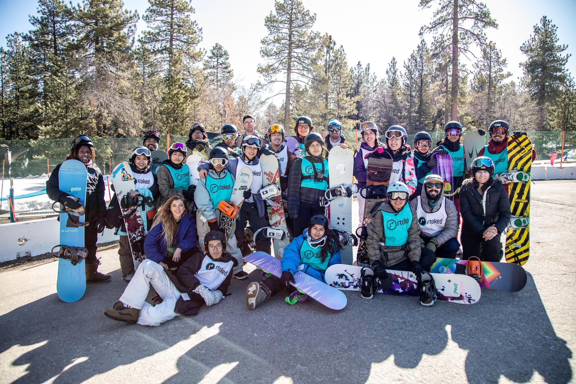 ICEF Vista Middle Charter Academy and View Park Prep High School Snowboarding in Snow Summit, Big Bear