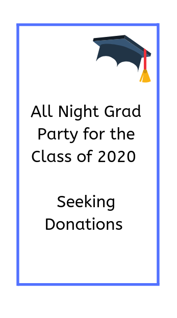 poster- all night grad party seeking donations