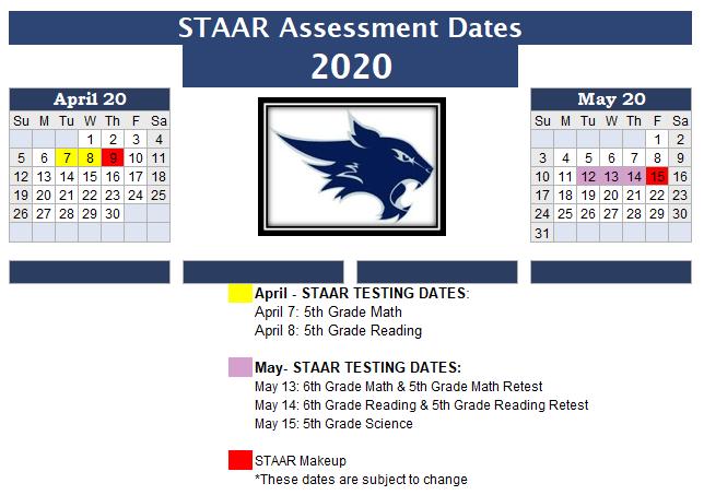 STAAR Calendar