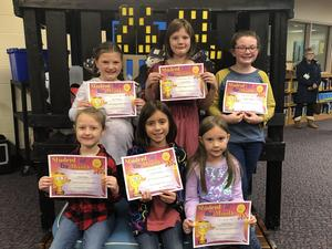 Group picture of students of the month.