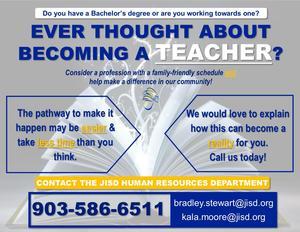 advertisement for teachers