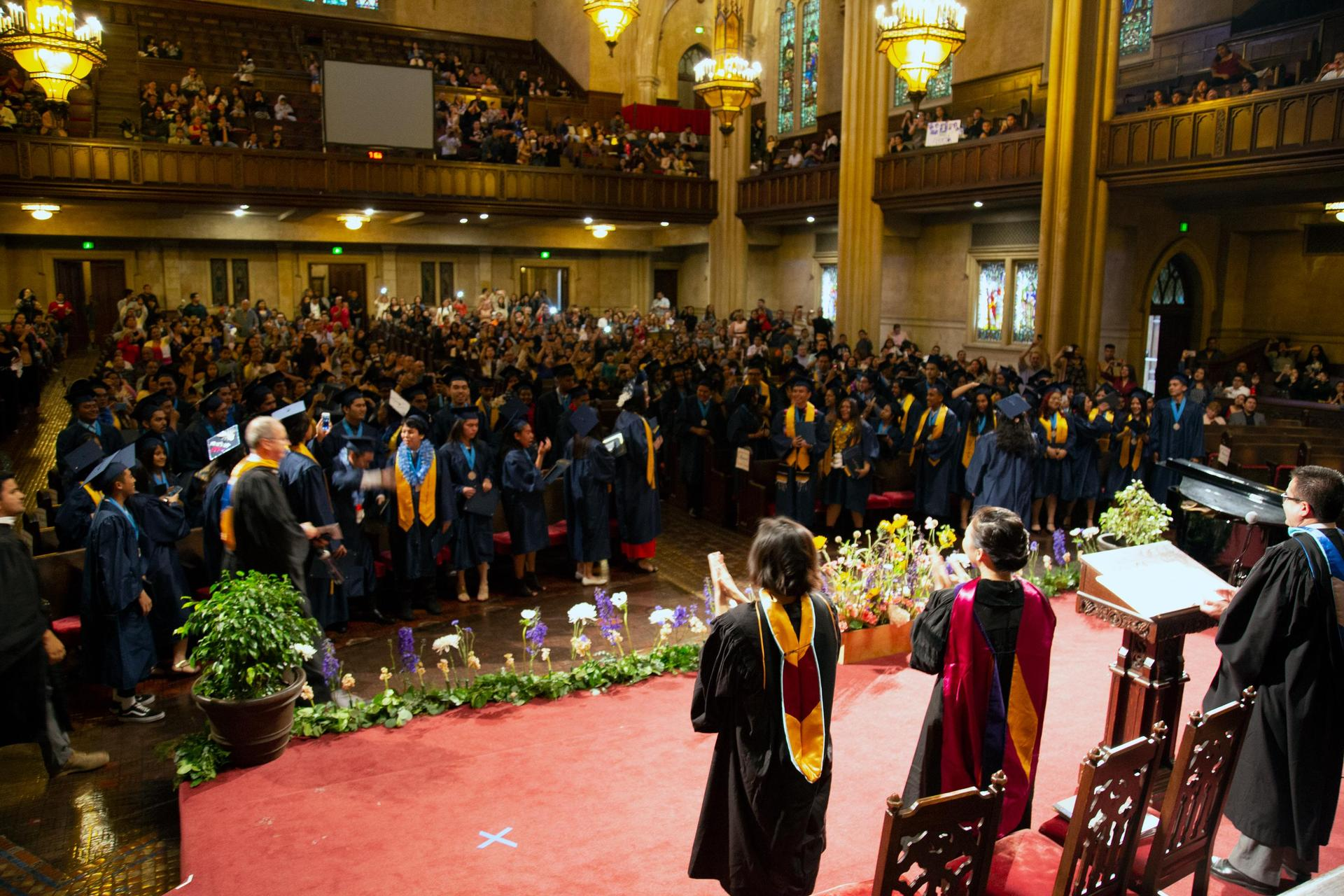 An overview of the graduation class celebration