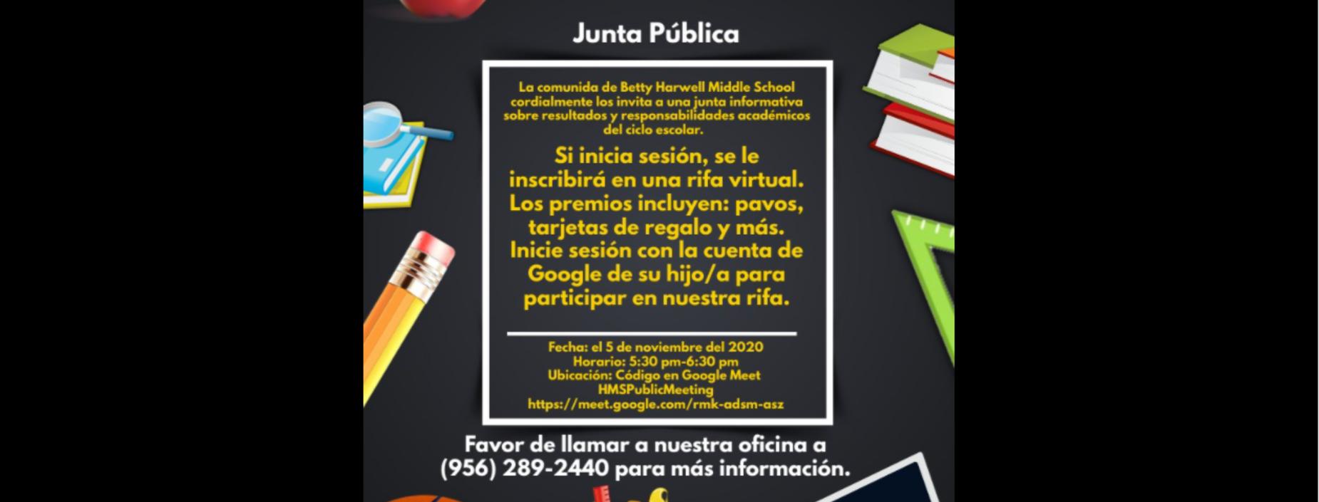 Public Meeting Spanish