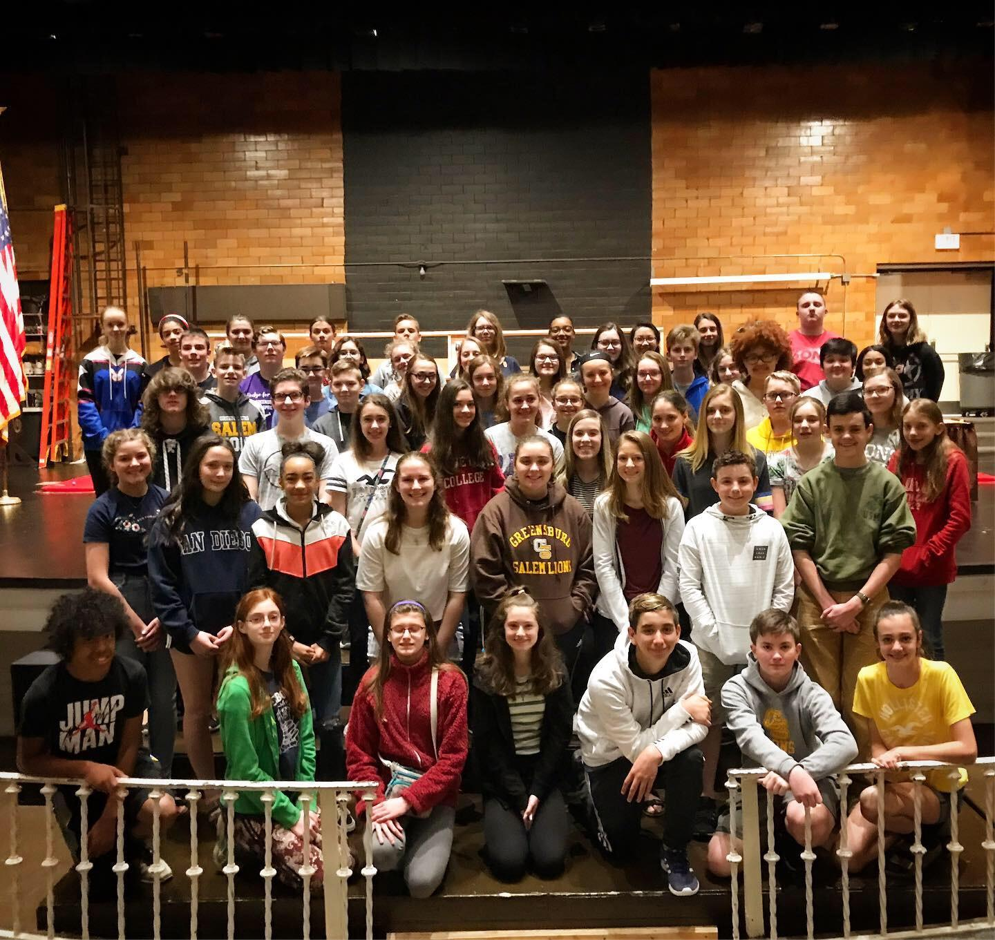 njhs induction practice group picture