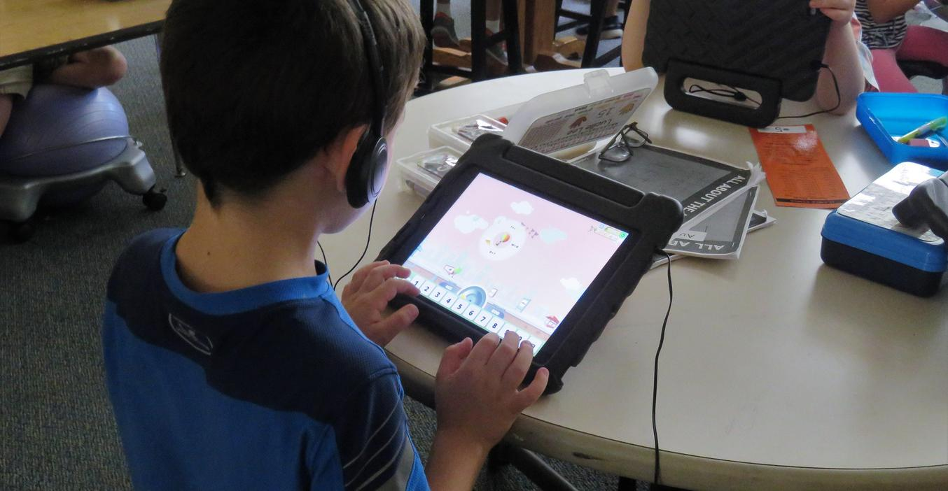 McFall students use technology and educational games in the classroom.