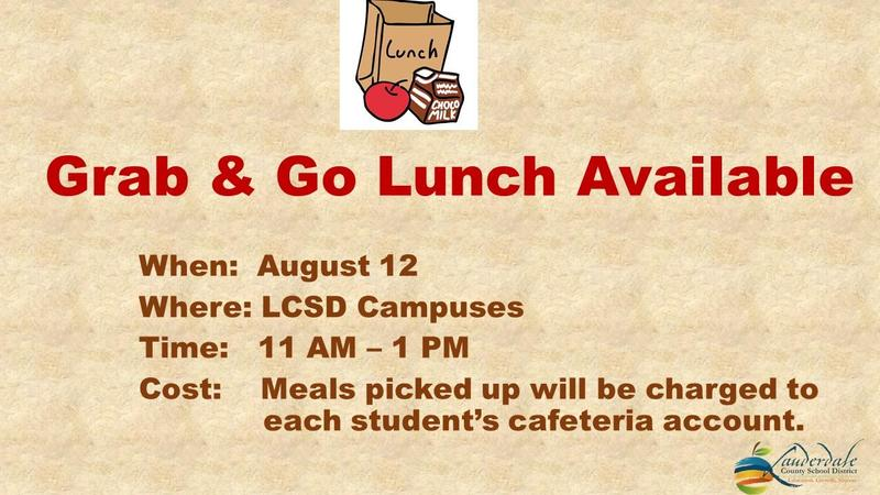 Grab & Go Lunch Graphic