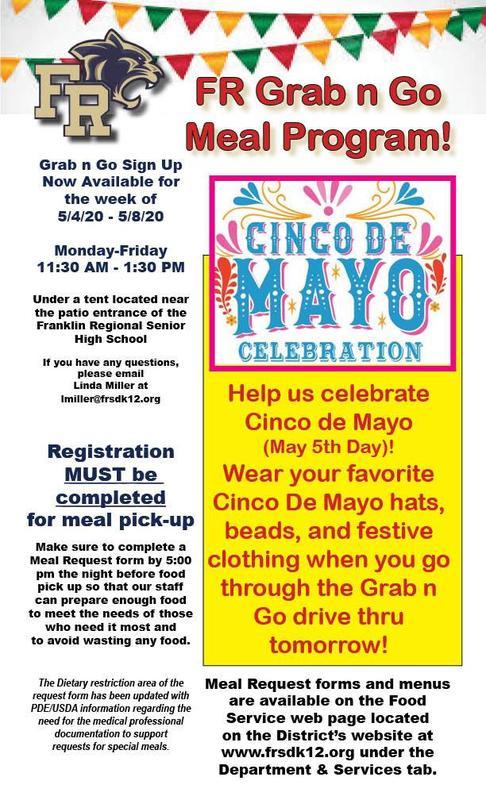 Cinco De Mayo Grab n Go Meal Day - 5.5.20