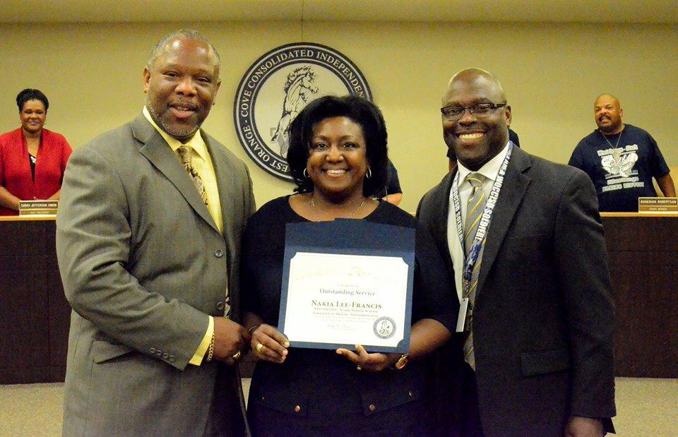 Nakia Francis Employee of the year