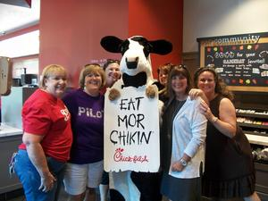 Staff members attend Chick-fil-A Night.