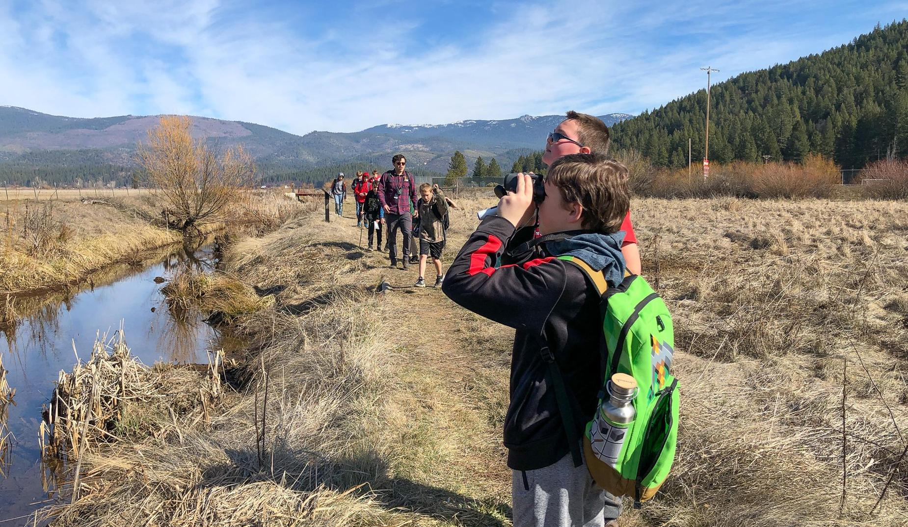 QES Bird Count Day at Learning Landscape