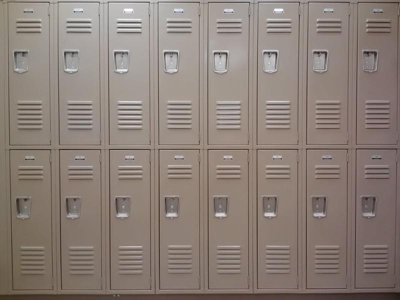 image of school lockers