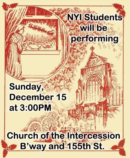 http://www.intercessionnyc.org/events-December 15 at 3PM/a-holiday-reading-of-clement-clarke-moores-a-visit-from-saint-nicholas